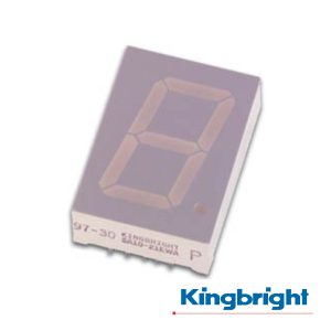 Display 1 Dígito 25mm Anodo Comum Vermelho Kingbright - (SA10-21SRWA)