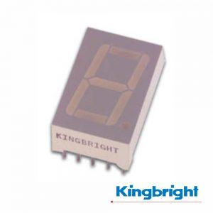 Display 1 Dígito 14mm Ânodo Comum Vermelho Kingbright - (SA56-11GWA)