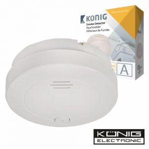Detector De Fumos Óptico C/Alarme Konig - (SAS-SA120)