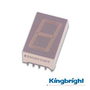 Display 1 Dígito 9mm Cátodo Comum Vermelho Kingbright - (SC36-11HWA)