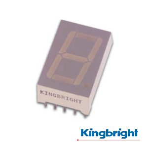 Display 1 Dígito 13mm Cátodo Comum Vermelho Kingbright - (SC52-11HWA)
