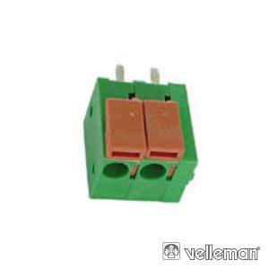 Bloco De Terminais C/ 2p De 5mm VELLEMAN - (SCREW02SL)