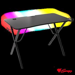 Secretária Gaming C/ Iluminação RGB HOLM 200 GENESIS - (NDS-1606)