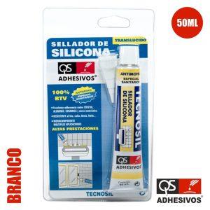 Silicone Acético Sanitário Branco 50ml Qs - (TECNOSIL-TU-BR)