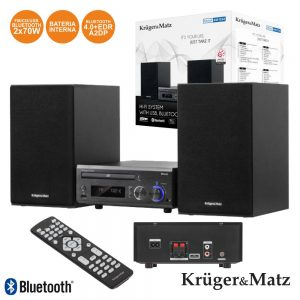 Sistema Som Cd/USB/FM Bluetooth Kruger Matz - (KM1534)