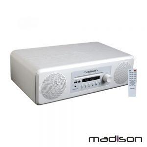 """Sistema Som Amplificado 2x4"""" Cd/USB/BT/FM 50W Madison - (MAD-MELODY-WH)"""