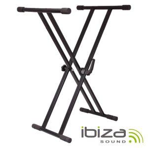Suporte P/ Teclado Bloqueio Duplo 65-96cm 75kg IBIZA - (SK002)