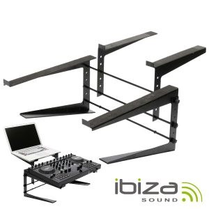 Suporte Duplo P/ DJ Ajustável IBIZA - (SLAP190)