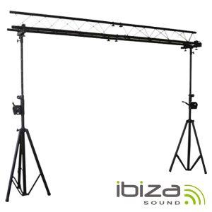 Suporte P/ Luzes 2 Barras Manivela 1.5-3m 12 Aparelhos IBIZA - (SLB03W)