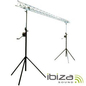Suporte P/ Luzes 2 Barras Manivela 1.5-3m 12 Aparelhos IBIZA - (SLB03W-LIGHT)