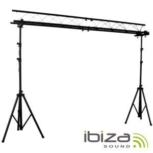 Suporte P/ Luzes 2 Barras 1.5-3m 12 Aparelhos IBIZA - (SLB04)