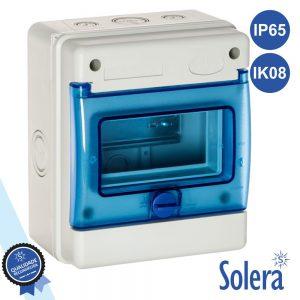 Caixa Distribuição Elétrica 6 Elementos IP65 IK08 SOLERA - (SLR-1306B)