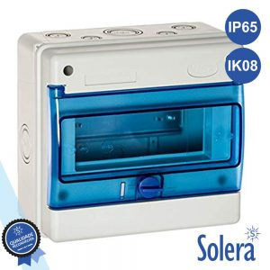 Caixa Distribuição Elétrica 8 Elementos IP65 IK08 SOLERA - (SLR-1308B)