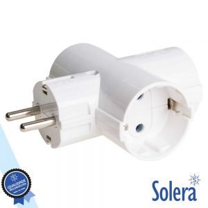 Ficha Elétrica Tripla 3 Saídas Schuko SOLERA - (SLR-186)