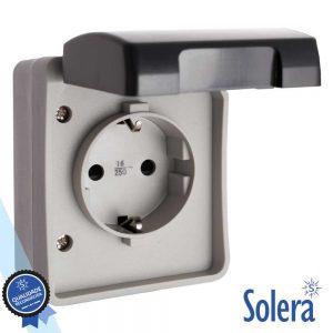 Tomada Elétrica Superfície C/ Terra Vde IP44 SOLERA - (SLR-3360)