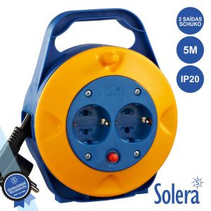 Extensão Tomada Elétrica C/ 2 Saídas 5m SOLERA - (SLR-7211/1)