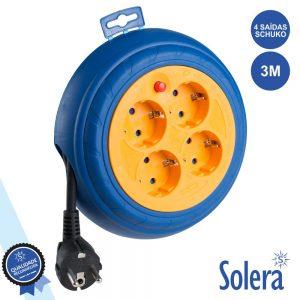 Extensão Tomada Elétrica C/ 4 Saídas 3m SOLERA - (SLR-7429)