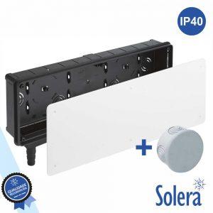 Caixa Pré-Instalação Ar Condicionado Saída Vertical SOLERA - (SLR-77)
