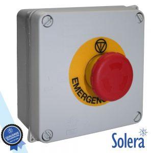 Caixa Passagem C/ Pulsador Emergência 230V IK07 IP65 SOLERA - (SLR-815-1)