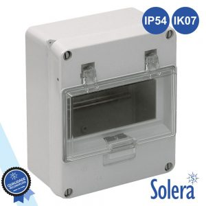 Caixa Distribuição Elétrica 6 Elementos Ip54 IK07 SOLERA - (SLR-899)