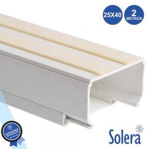 Calha Técnica Pvc C/ Adesivo 25x40mm 793mm² 2m SOLERA - (SLR-9162540)
