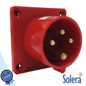 Ficha Cee Macho Painel 3 Polos (3p+t) 16a IP44 SOLERA - (SLR-934142)
