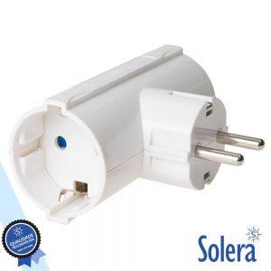 Tomada Elétrica C/ 2 Saídas E Terra SOLERA - (SLR-986)