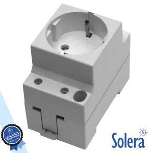 Tomada Eléctrica P/ Calha Din SOLERA - (SLR-99)