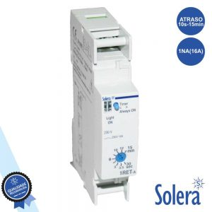 Temporizador C/ Escala Auto 30s-15min P/ Calha Din SOLERA - (SLR-AE16/230)