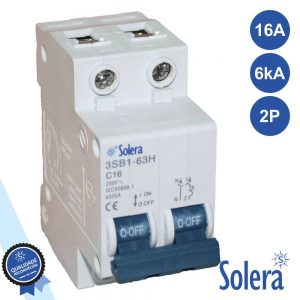 Disjuntor 2p 16a 6ka 240/415v SOLERA - (SLR-CBM216)