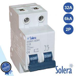 Disjuntor 2p 32a 6ka 240/415v SOLERA - (SLR-CBM232)