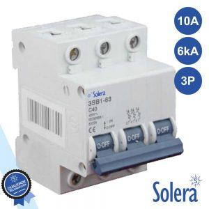 Disjuntor 3p 10a 6ka 240/415v SOLERA - (SLR-CBM310)