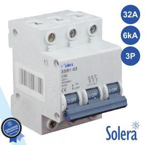 Disjuntor 3p 32a 6ka 240/415v SOLERA - (SLR-CBM332)