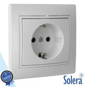 Tomada Elétrica Encastrar C/ Terra SOLERA - (SLR-ERP60U)