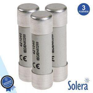 Fusível Cerâmica 14x51 40a 500v 3x SOLERA - (SLR-FC140)
