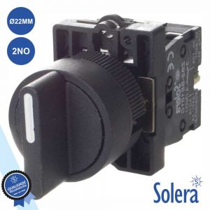 Interruptor Seletor Rotativo 3 Posições 2no Ø22mm SOLERA - (SLR-INT5/3A2)