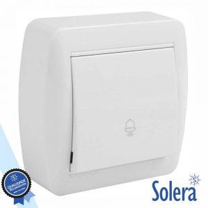Botão De Campaínha C/ Iluminação 10a 250v SOLERA - (SLR-MUR03U)