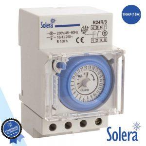Temporizador Diário Analógico 16a 230V P/ Calha Din SOLERA - (SLR-R24R/3)