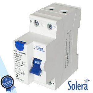 Interruptor Diferencial 2p 63a 6ka 240/415v SOLERA - (SLR-RCB2P6330)