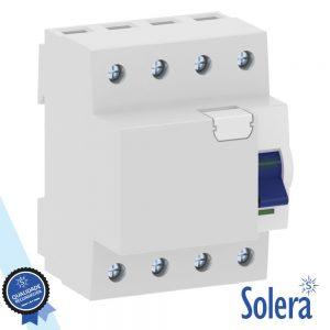 Interruptor Diferencial 4p 63a 6ka 240/415v SOLERA - (SLR-RCB4P6330)