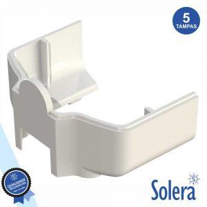 Conjunto 5 Tampas P/ Calha Técnica Pvc SOLERA - (SLR-TA-8000)