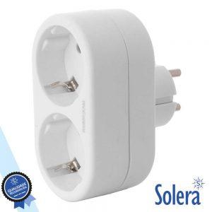 Tomada Elétrica C/ 2 Saídas Branco SOLERA - (SLR-V1300)