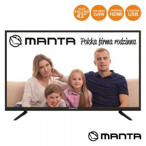 "Smart TV DLED 43"" Full HD USB 2 HDMI Android MANTA - (43LFA69K)"
