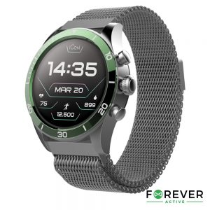 SmartWatch Multifunções P/ Android iOS ICON FOREVER - (AW-100GR)