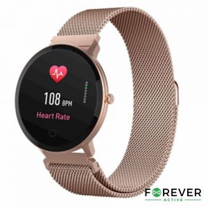 SmartWatch Multifunções P/ Android iOS Rose Gold FOREVER - (SB-320RG)
