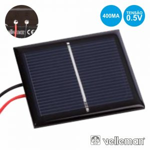 Painel Fotovoltaico 0.5v-400ma VELLEMAN - (SOL1N)