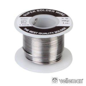 Solda 1mm 60/40 100g VELLEMAN - (SOLD100G)