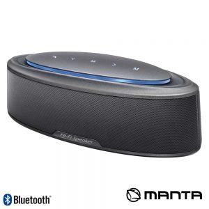 Coluna Bluetooth Portátil 20W USB/SD/Aux/Bat LEDS MANTA - (SPK516)