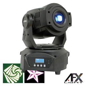 Moving Head Spot 1 LED 60W Branco 3 Rodas Gobo DMX AFXLIGHT - (SPOT60LED)