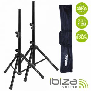 Conjunto 2 Suportes P/ Colunas C/ Bolsa 1.2m 30kg IBIZA - (SS01B-MINI)